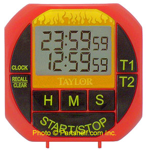 Taylor-818 Weekend Warrior Big Digit Kitchen/BBQ Timer/Clock