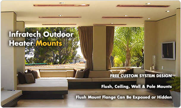 Infratech Outdoor Heater Mounting Options