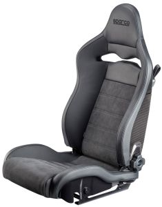 Sparco SPX Reclining Black Leather Seat 00974ZNRSX **00974ZNRSX