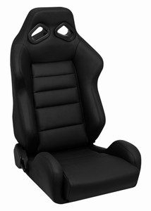 Corbeau TRS Racing Seat Black Leather 20801L (+$220)