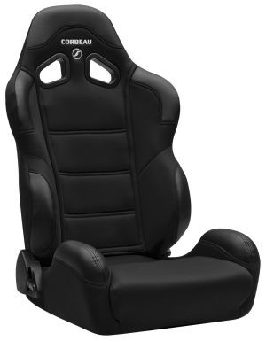 Corbeau CR1 Racing Seat <i>WIDE</i> Black Cloth 20901W (+$80)
