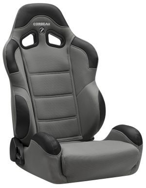 Corbeau CR1 Racing Seat <i>WIDE</i> Grey Cloth 20909W (+$80)