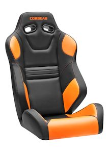Corbeau SXS Racing Seat Black/Orange Carbon Fiber Vinyl 27213