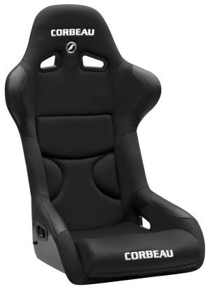 Corbeau FX1 Racing Seat <i>WIDE</i> Black Cloth w/Black Inserts 29501W (+$40)