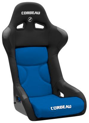Corbeau FX1 Pro Racing Seat Black Cloth w/Blue Cushion Insert 29505P (SpOrd*)