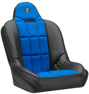 Corbeau Baja SS Racing Seat Black Vinyl w/Blue Cloth Center  65405