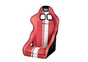 OMP TRS-E Plus: Racing Seat Red/White 744ERW (+$10)
