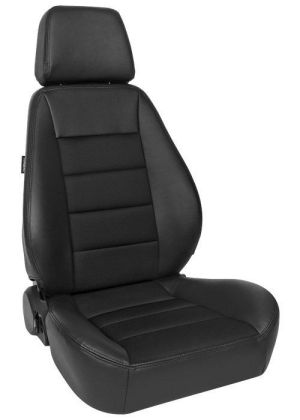 Corbeau Sport Racing Seat Black Vinyl/Cloth 90011