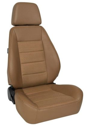 Corbeau Sport Racing Seat Tan Vinyl/Cloth 90066