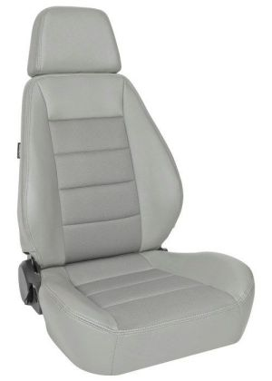 Corbeau Sport Racing Seat Grey Vinyl/Cloth 90099