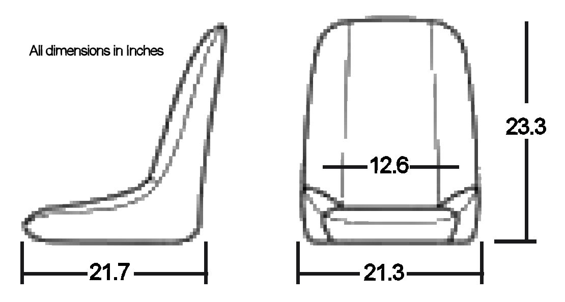 OMP Silverston Seat Dimensions