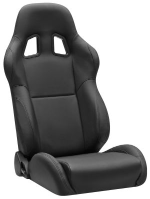 Corbeau A4 Racing Seat Black Leather L60091 (+$200) **L60091