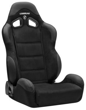 Corbeau CR1 Racing Seat WIDE Black Microsuede S20901W (+$140) **S20901W