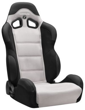 Corbeau CR1 Racing Seat <i>WIDE</i> Black/Grey Microsuede S20909W (+$140) **S20909W
