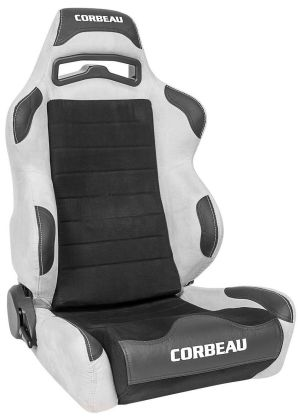 Corbeau LG1 Racing Seat WIDE Grey/Black Microsuede S25509W (+$140) **S25509W