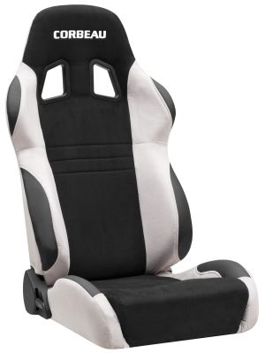 Corbeau A4 Racing Seat Black/Grey Microsuede S60099 (+$80) **S60099
