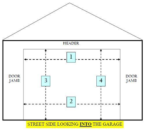 garage door size for 2 car garage 3