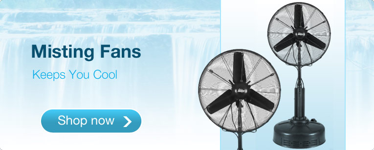 Misting Fans - Keeps You Cool