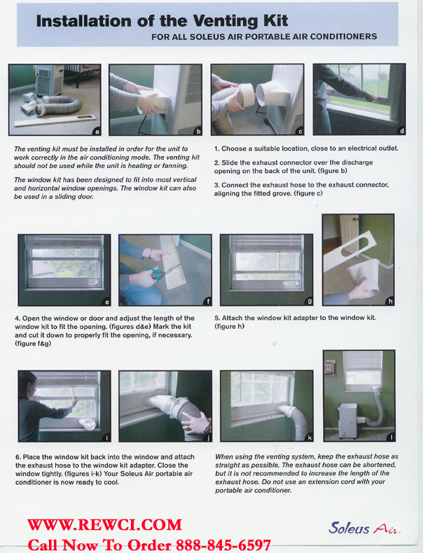 window mount units require the use of a window vent kit like the one