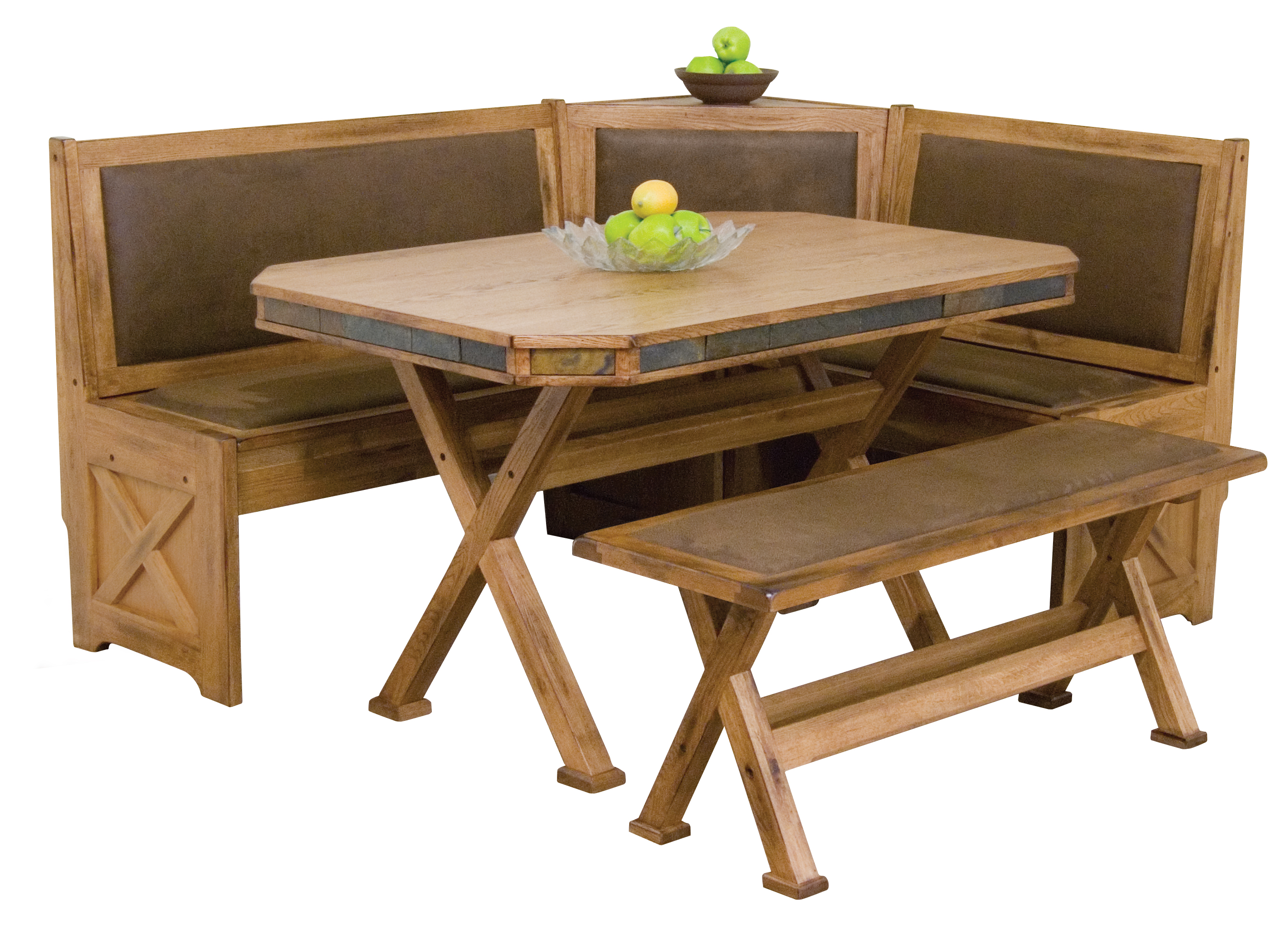 Furniture dining room furniture nook rustic for Corner dining table