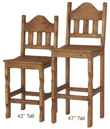 pine wood furniture rustic bar stools image mexican