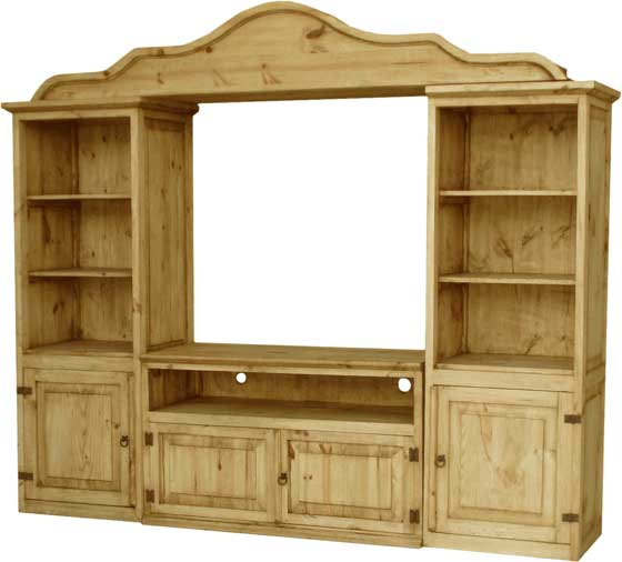 Rustic furniture pine furniture mexican wood furniture Wooden entertainment center furniture