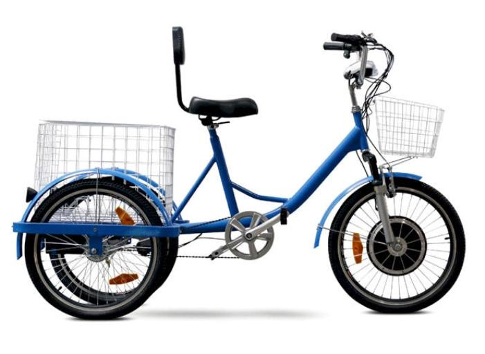 450 Watt 48 Volt Electric Powered Tricycle Blue