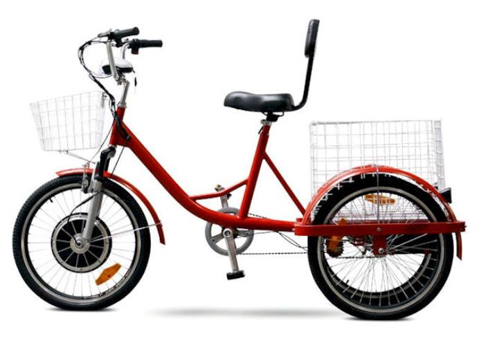 450 Watt 48 Volt Electric Powered Tricycle Red
