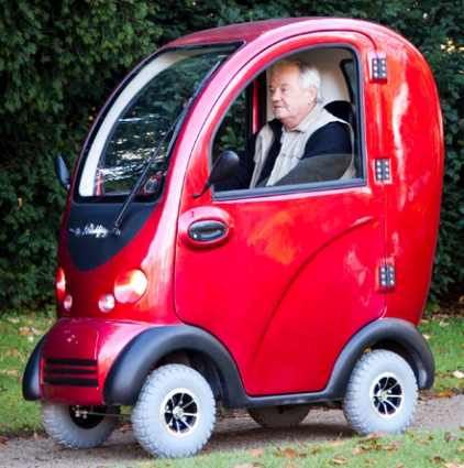 Cabin Electric Mobility Scooter 4 Wheel Powerfull 1400