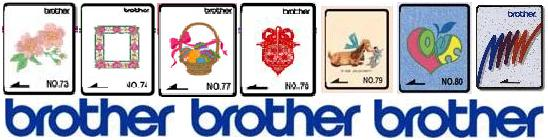 Brother Embroidery Cards from www.sewingsupplywarehouse.com