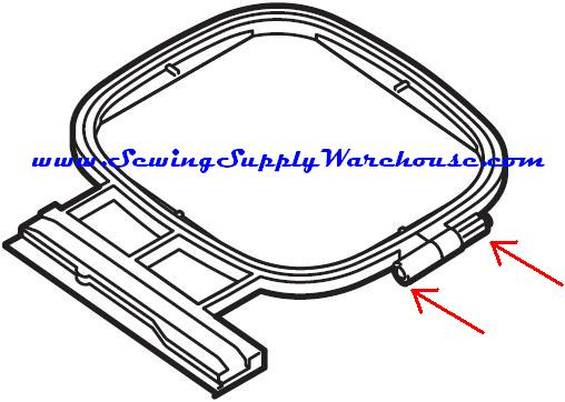 Embroidery hoop hardware brother baby lock thumb screw