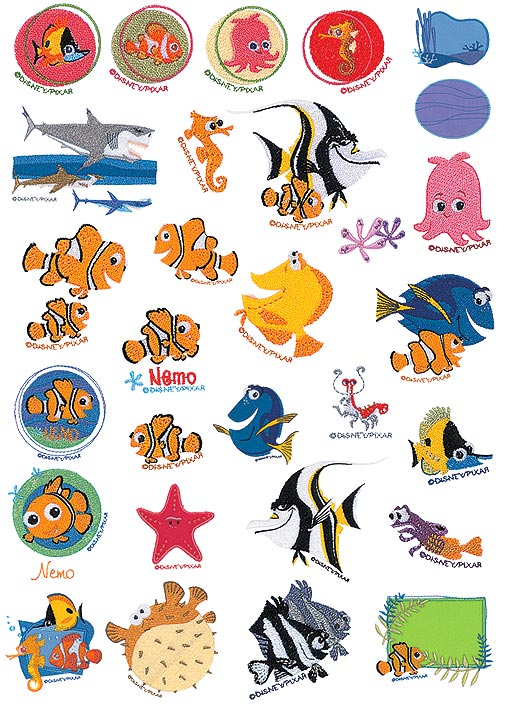 Finding nemo fish characters the image for Finding nemo fish names