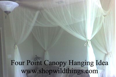 Box Nets | Bedroom Canopy | Bedroom Décor | Four Poster Bed Canopy
