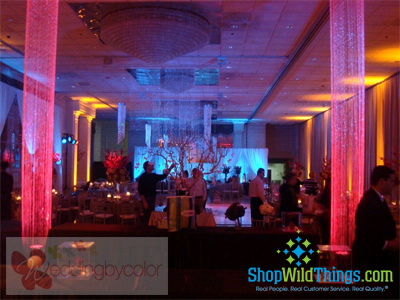 Our beautiful glittering shimmering columns are fantastic for creating a