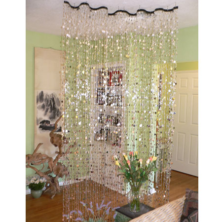 Beaded Curtain Rod ~ Make Your Own Curtain