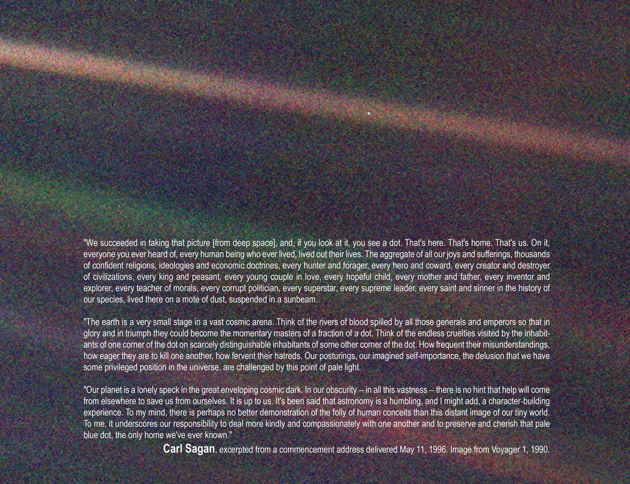 Cassini S View Of Another Pale Blue Dot Universe Today