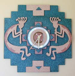 Twin Kokopelli Wall Clock