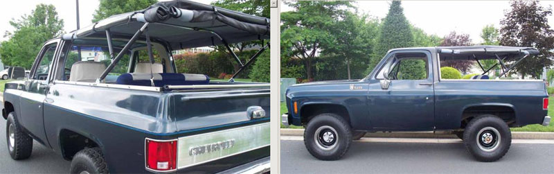 1976 to 1994 Chevy K5 Blazer Soft Top Canvas