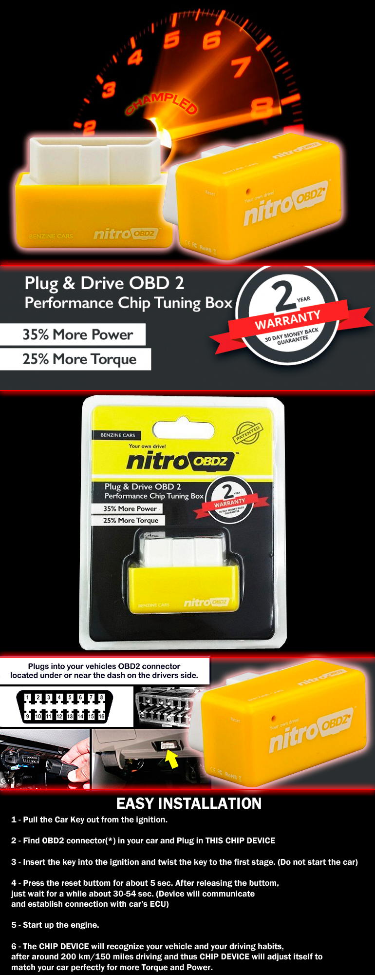 nitro obd2 plug and drive obdii performance chip tuning. Black Bedroom Furniture Sets. Home Design Ideas