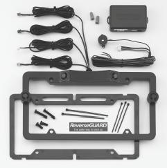 4 Parking Sensors Back-up License Plate Mount Kit