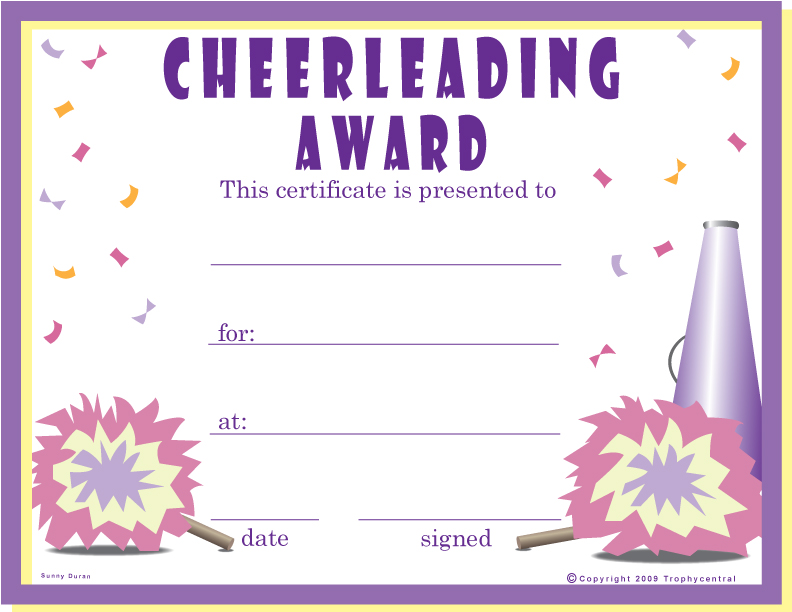 free cheerleading certificate templates Quotes