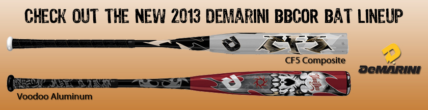DeMarini 2013 BBCOR Certified Bats for High School