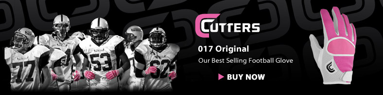Cutters Pink 017 Original - Our Best selling football glove - Buy Now