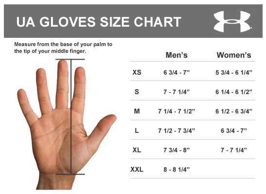 Under Armour Gloves Size Chart