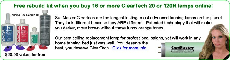 Cleartech tanning bed lamps and bulbs