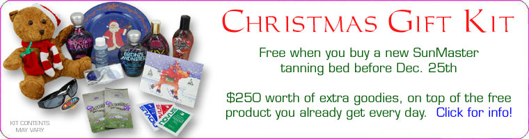 Christmas bonus package for tanning beds