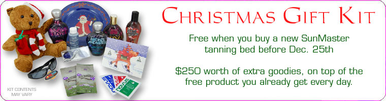 Free bonus products when you buy a tanning bed before Christmas