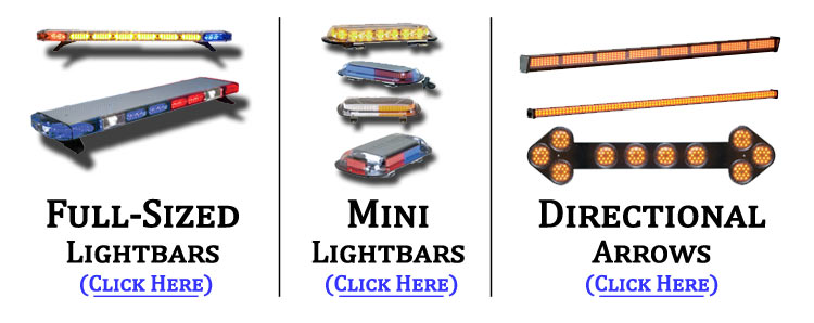 Full-Sized, Mini Lightbars, Traffic Advisors/Directional Arrows