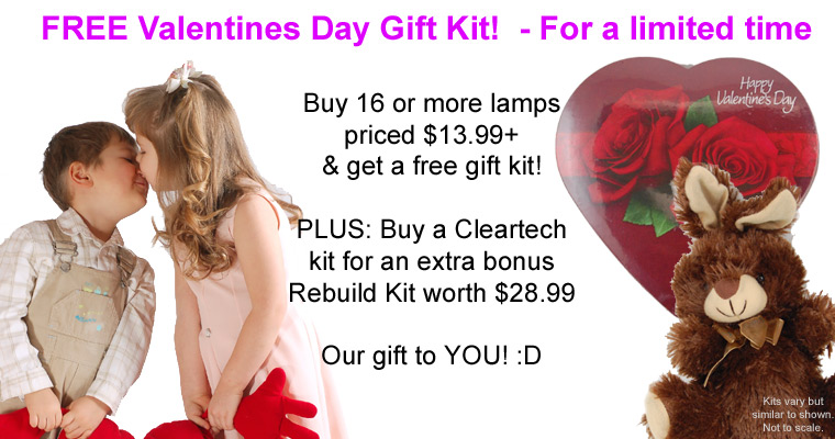 Free Valentines kit when you order a kit of lamps