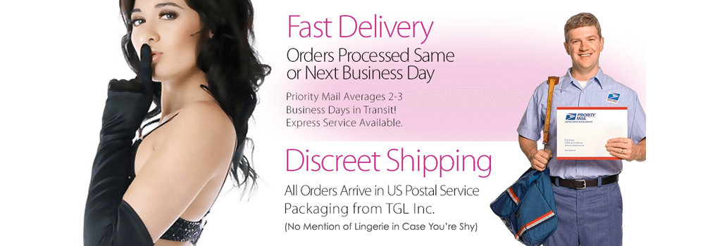 Lingerie with Fast Delivery, Discreet Shipping
